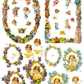 Bilder, 3D Bilder und ausgestanzte Teile usw... Die fogli: angelo e cornice decorativa