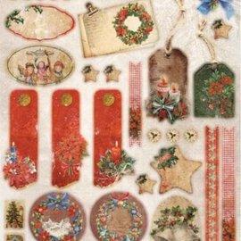 Bilder, 3D Bilder und ausgestanzte Teile usw... Feuilles pre-coupe: Noël vintage