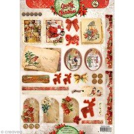 Bilder, 3D Bilder und ausgestanzte Teile usw... Die fogli singoli: Vintage Natale
