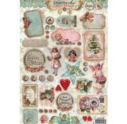 Bilder, 3D Bilder und ausgestanzte Teile usw... Die cut: Vintage Christmas, Shabby chic
