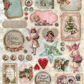 Vintage, Nostalgia und Shabby Shic Feuilles pre-coupe: Noël vintage, chic minable