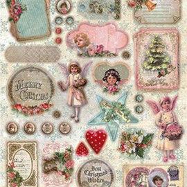 Vintage, Nostalgia und Shabby Shic Stanzbogen: Vintage Weihnachten, Shabby chic