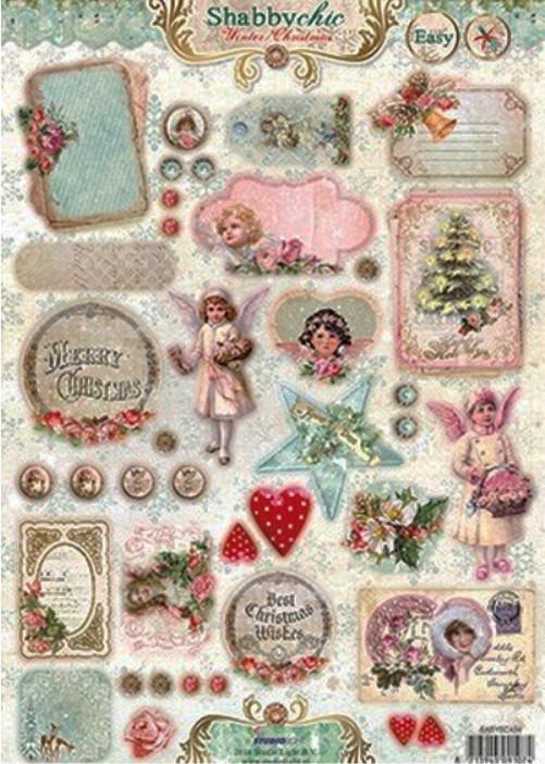 stanzbogen vintage weihnachten shabby chic ihr www. Black Bedroom Furniture Sets. Home Design Ideas