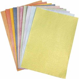 Karten und Scrapbooking Papier, Papier blöcke Mother of pearl paper, A4 21x30 cm, mother of pearl, 50 sheets!