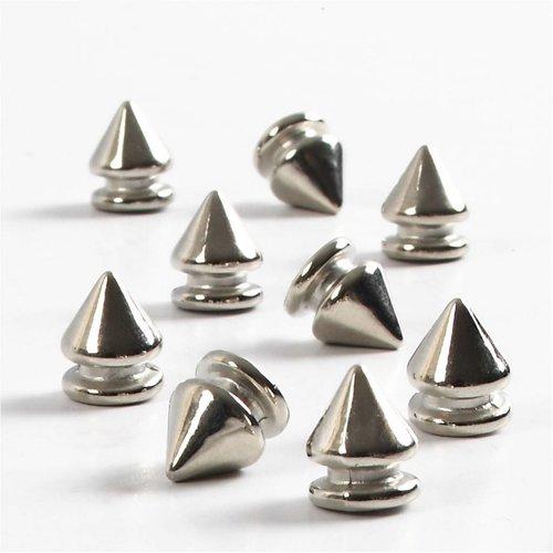 Embellishments / Verzierungen 8 Mini Füsschen, D: 8 mm, H 10 mm