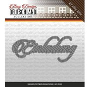 AMY DESIGN AMY DESIGN, Punching and embossing stencils: German text: Invitation