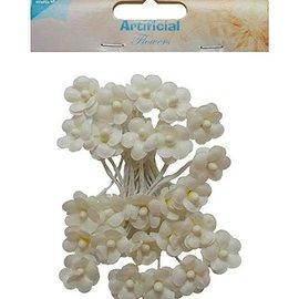 Embellishments / Verzierungen 25 blomster Ivory
