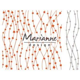 Marianne Design dossiers embosser + modèle poinçonnage avec des étoiles