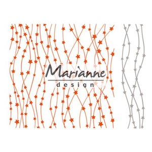 Marianne Design Embossing folder + stamping template with stars