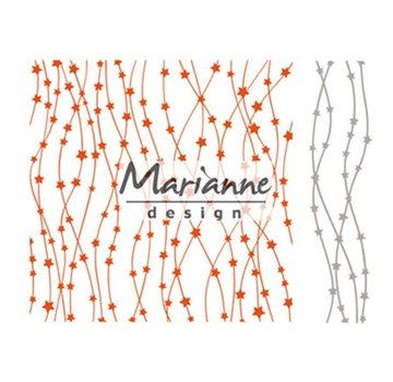 Marianne Design Embossing mapper + stansning skabelon med stjerner
