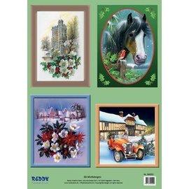 3D-Stanzbogenset Weihnachtsszenen und Motive
