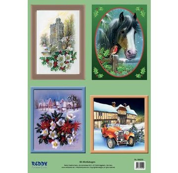 3D Stanzbogenset Jul scener og motiver