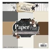 Karten und Scrapbooking Papier, Papier blöcke Designersblock 15,5 x 15,5 cm: Foresta congelata
