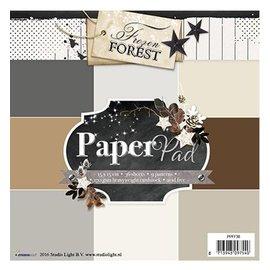 Karten und Scrapbooking Papier, Papier blöcke Designersblock 15,5 x 15,5 cm: Bosque congelado