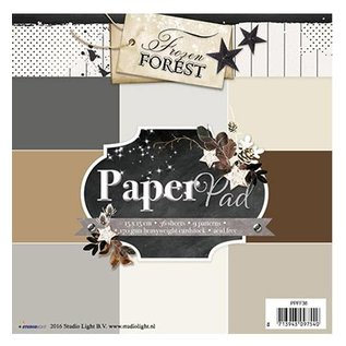 Karten und Scrapbooking Papier, Papier blöcke Designerblock 15,5 x 15,5cm: Frozen Forest