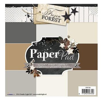 Karten und Scrapbooking Papier, Papier blöcke Designersblock 15,5 x 15,5 cm: Frozen Forest