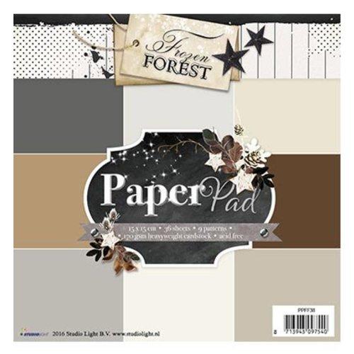 Karten und Scrapbooking Papier, Papier blöcke Designersblock 15,5 x 15,5 cm: Bevroren Bos