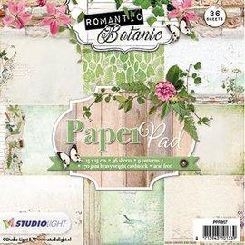 Karten und Scrapbooking Papier, Papier blöcke Designerblock 15,5 x 15,5cm: Romantic Botanic