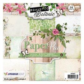 Karten und Scrapbooking Papier, Papier blöcke Designersblock 15,5 x 15,5 cm: Romántico Botanic