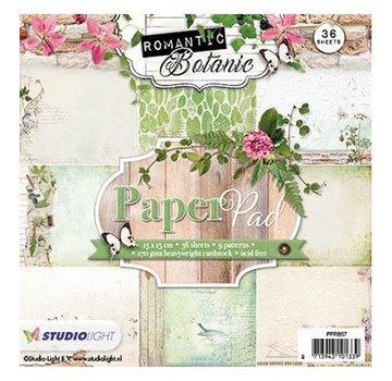 Karten und Scrapbooking Papier, Papier blöcke Designersblock 15.5 x 15.5 cm: Romantisk Botanic