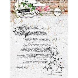 Studio Light Gennemsigtig / Clear Stamp: Romantisk Botanic med Script