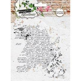 Studio Light Transparent / Clear Stamp: Botanique romantique avec Script