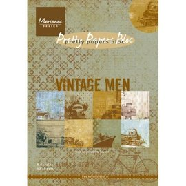 Karten und Scrapbooking Papier, Papier blöcke Designersblock A5: Vintage Heren