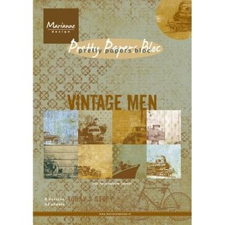 Karten und Scrapbooking Papier, Papier blöcke Designerblock A5: Vintage Men