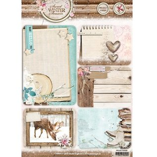 Studio Light Die cut, A4: Sweet Winter Season, with 5 prepunched background cards / labels, 170 grs