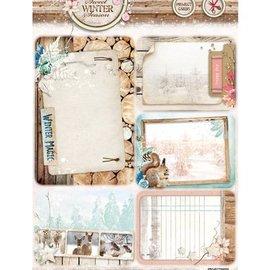 Studio Light Stanzbogen, A4: Sweet Winter Season, mit 5 vorgestanzte Hintergrund Karten / Labels
