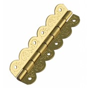 Embellishments / Verzierungen Decorative hinges, brass plated, size: 40x12mm, 4 pieces