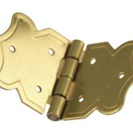 Embellishments / Verzierungen Ornamentale cerniere oro, dimensioni: 20x37 mm, 4 pezzi