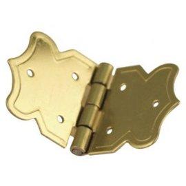 Embellishments / Verzierungen Ornamental bisagras de oro, tamaño: 20x37 mm, 4 piezas