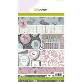 Karten und Scrapbooking Papier, Papier blöcke Bloc de concepteur, A5, Winterwoods