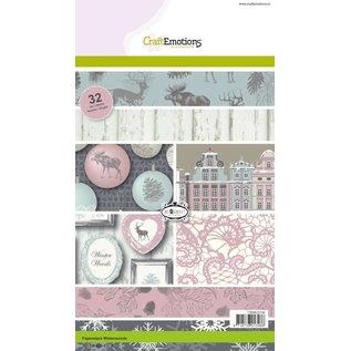 Karten und Scrapbooking Papier, Papier blöcke Designer Block, A5, Winterwoods
