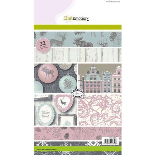 Karten und Scrapbooking Papier, Papier blöcke Designerblock, A5, Winterwoods