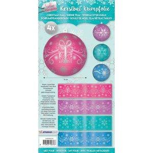 BANDEROLEN, Schrumpffolien 4 shrink bands for balls with 8cm diameter