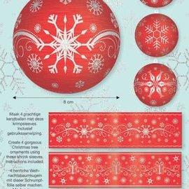 BANDEROLEN, Schrumpffolien 4 bandas retráctiles para bolas con 8cm de diámetro
