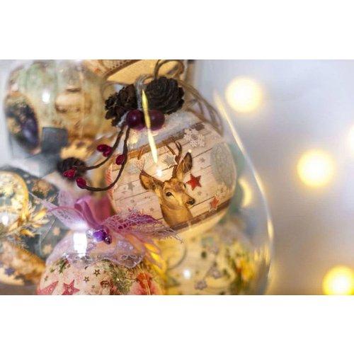 Banderolen, schrumpfolien und Verzierungen zu Weihnachten