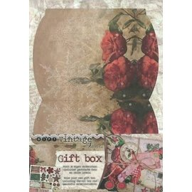 BASTELSETS / CRAFT KITS Die cut sheet, A4, for the design of a gift box incl. Ornaments