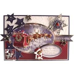 Glorioso juego de matrices, para el diseño de diversas tarjetas de Navidad + 2 entradas + adhesivo + pastillas de pegatinas
