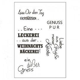 Stempel / Stamp: Transparent Stempel Weihnachten Text in deutsch, Basteln für Weihnachten