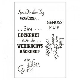 Stempel / Stamp: Transparent Transparent text stamp in german