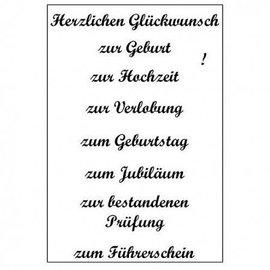 Stempel / Stamp: Transparent Gennemsigtig / Clear Text Stempel: tysk tekst