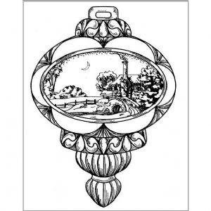 STEMPEL / STAMP: GUMMI / RUBBER Rubber stamp: Christmas ball