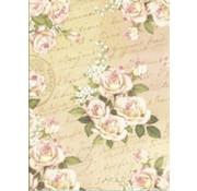 Designer Papier Scrapbooking: 30,5 x 30,5 cm Papier Designer paper, 30.5 x 30.5cm, romantic rose design