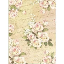 Designer Papier Scrapbooking: 30,5 x 30,5 cm Papier Designerpapier, 30,5 x 30,5cm, romantisches Rosendesign