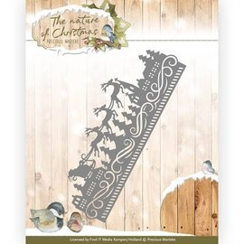 Precious Marieke Punching templates: edge with sledge and reindeer