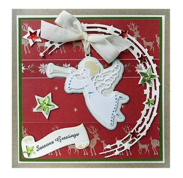 Marianne Design Punching templates: Stars in a half circle