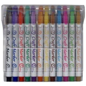 FARBE / STEMPELKISSEN le marqueur Craft, marqueurs d'encre permanente Craft, 12 couleur